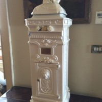 Cast ornate postbox