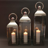 Large, medium & small plain lanterns