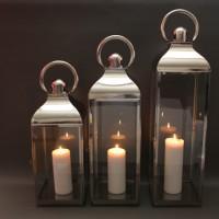 Large, medium & small plain lanterns