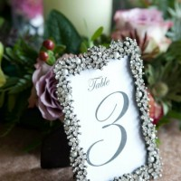 Table number, ornate frame