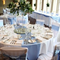 mirror bases, scatter crystals, sashes, top table swag, chair covers